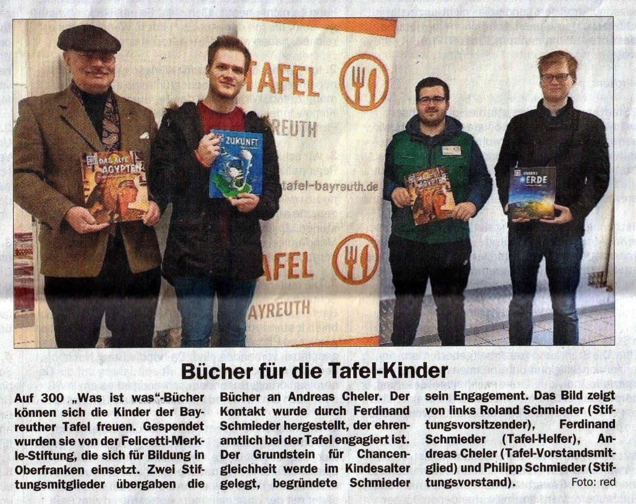 Bücherspende TAfel Bayreuth
